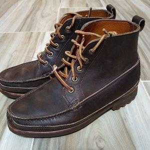 Ralph Lauren Mens Brown Leather Boots Sz 7
